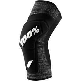 100% Ridecamp Knee Guards grey heather/black